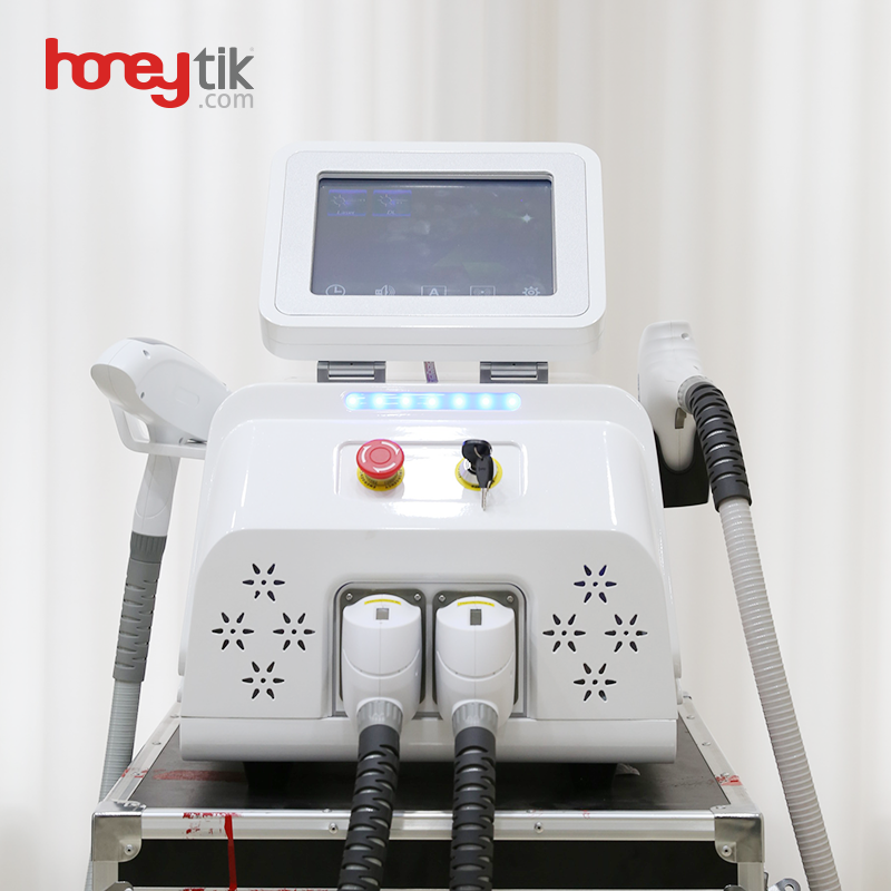Powerful Diode Laser Hair Removal Nd Yag 1064 Laser Tattoo Removal Beauty Machine Q Switch Laser Treatment for Pigmentation