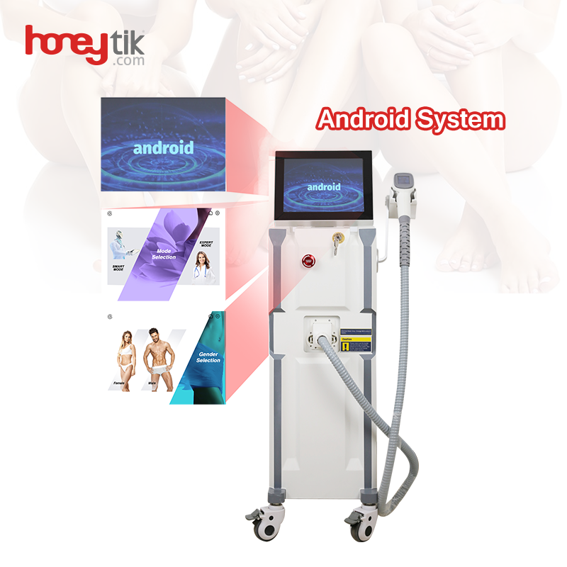 Diode 808nm Laser Hair Removal Machine Newest Large Android Screen Spa Use Vertical Skin Rejuvenation